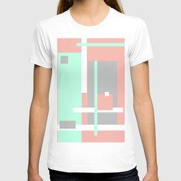 Pastel Geometric Abstract T-shirt