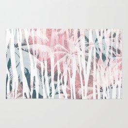 Abstract animal and palm Rug