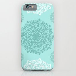 Heart Mandala Turquoise iPhone Case