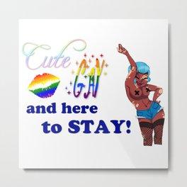 Gay/Vitiligo Pride Cuties Metal Print