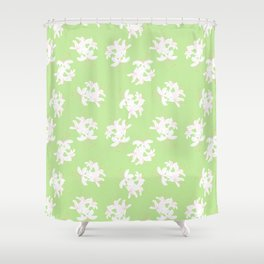 Honeysuckle Bouquet in Key Lime Shower Curtain