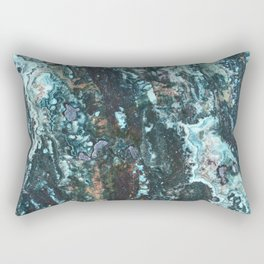 Grungy Marble Stone Rectangular Pillow