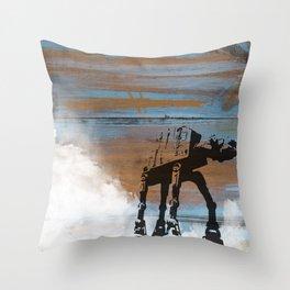 Blue Hoth Throw Pillow