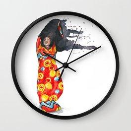 Stripping Darkness Wall Clock