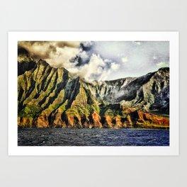 Searust Na Pali, Kauai Art Print