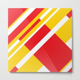 RECT yellow&red Metal Print