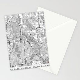 Minneapolis Map Line Stationery Cards