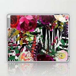 Floral On Zebra Pattern Laptop & iPad Skin