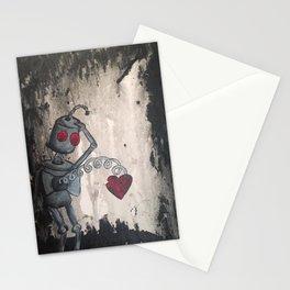 Sad Robot 3 Stationery Cards