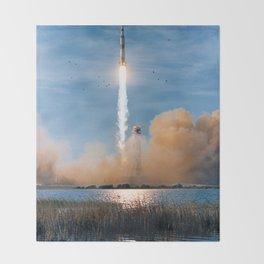 Apollo 8 - Saturn V Liftoff! Throw Blanket