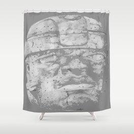 Olmec Art-i-fact Shower Curtain
