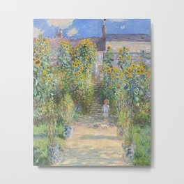 The Artists Garden at Vetheuil (1881) by Claude Monet Metal Print