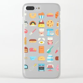 CUTE BAKERY PATTERN (CUTE CHEF BAKER) Clear iPhone Case