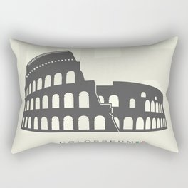 illustration of Roman Colosseum isolated on white background Rectangular Pillow
