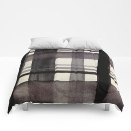 Painterly Plaid Comforters