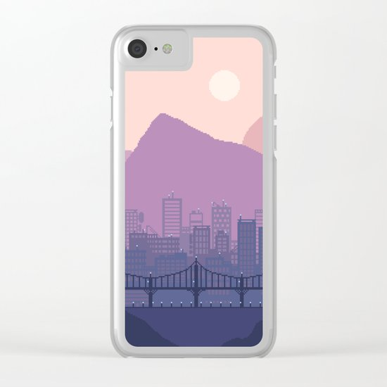 Lavender Morning Clear iPhone Case