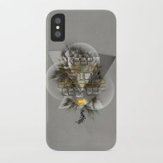 Keep calm and breathe deeply Slim Case iPhone X