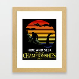 Hide And Seek World Championships 1967 Framed Art Print