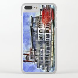 New Orleans Paddle Steamer Van Goth Clear iPhone Case