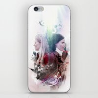 swan queen iPhone & iPod Skins featuring Swan Queen Magic by Slayerstime