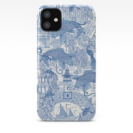 chinoiserie toile blue iPhone Case