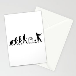 Zombie Evolution Stationery Cards