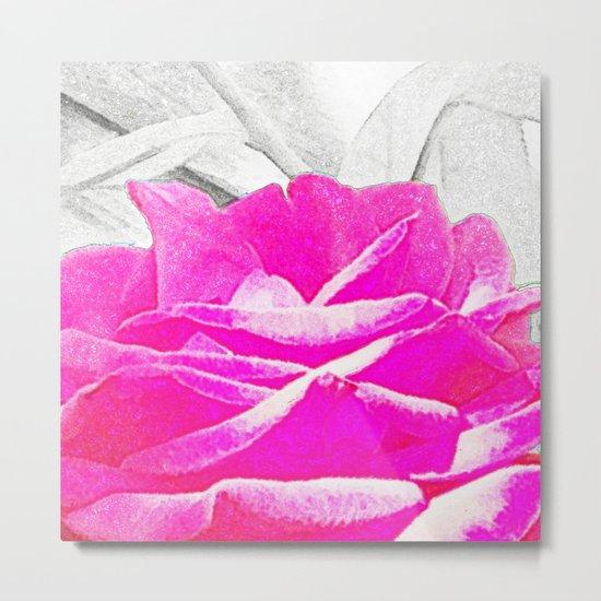 Chalk Rose Metal Print