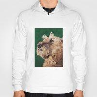 irish Hoodies featuring Irish terrier by Carl Conway