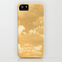 Clouds in a Golden Sky iPhone Case