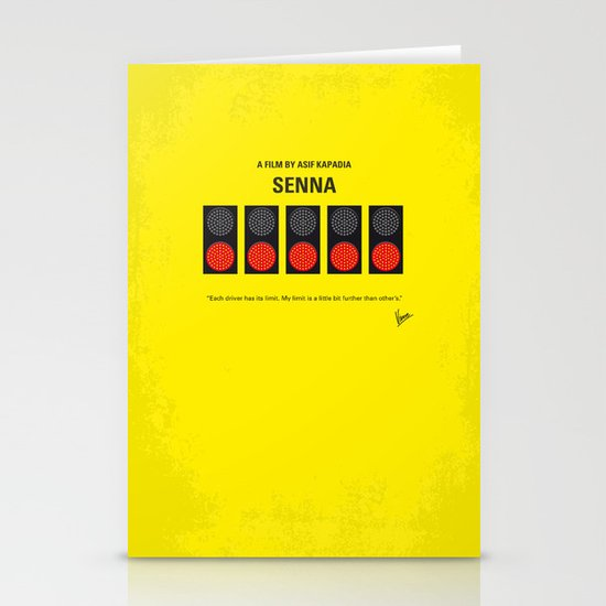 No075 My senna minimal movie poster Stationery Cards