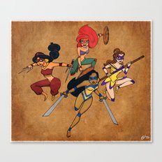 Teenage Disney Ninja Princesses Canvas Print