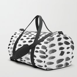 painted dots black Duffle Bag