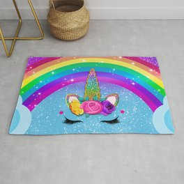 Rainbow Sparkle Unicorn Rug