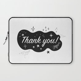 A sparkling Thank You Laptop Sleeve