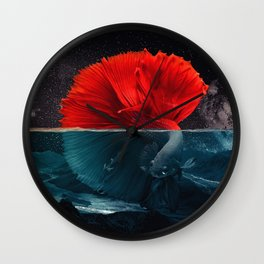 Red Siamese Fighting by GEN Z Wall Clock