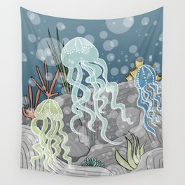 Floatin' Jellyfish Wall Tapestry