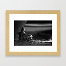 the kidnapped manikin Framed Art Print