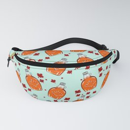 Super Canadian Maple Syrup Pattern Fanny Pack