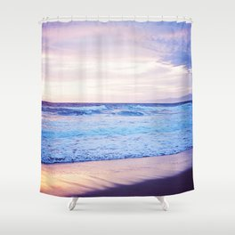 Purple Sunset over Hermosa Beach, Los Angeles  Shower Curtain