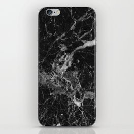 Black and Gray Marble Pattern iPhone Skin