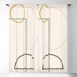 Minimal Geometric 46 Blackout Curtain