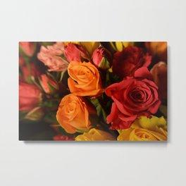 Bunch of Roses Metal Print