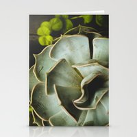 succulent Stationery Cards featuring Succulent by Olivia Joy StClaire