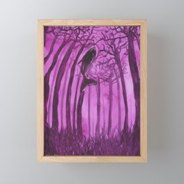Moby´s Forest - Purple Framed Mini Art Print
