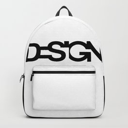 Typo Design word Backpack
