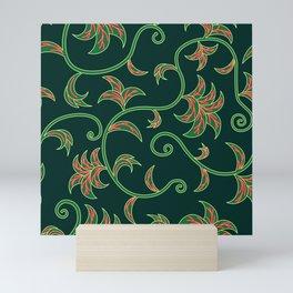 Tropical Leaves Climbing Plants Mini Art Print