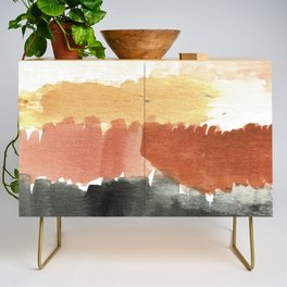 Abstract in Rust n Clay Credenza