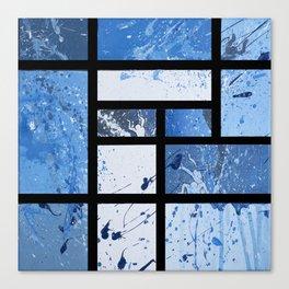 Movin with Pollock, Mondrian & Haring  Canvas Print