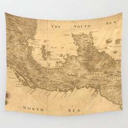 Vintage Map of Panama (1800) Wall Tapestry