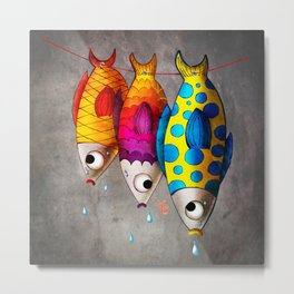 Fish Sale Metal Print